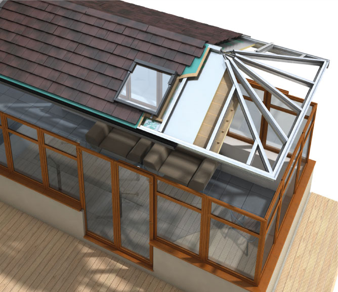 Install a highly energy efficient solid roof to your conservatory.