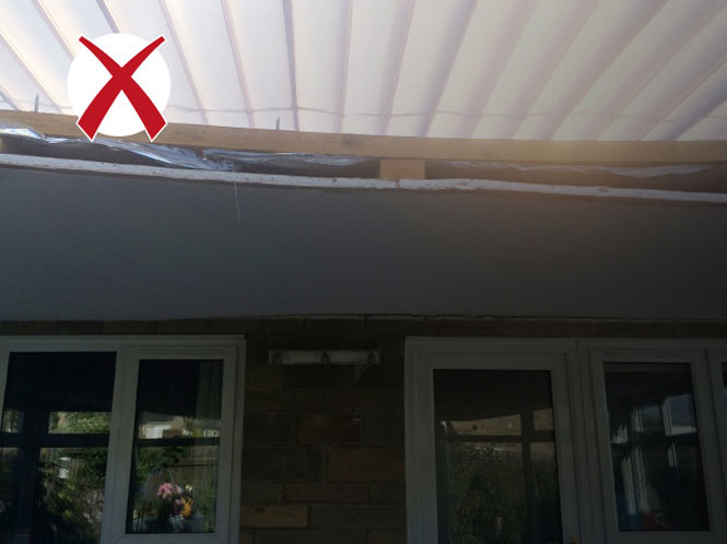 How not to install a solid conservatory roof